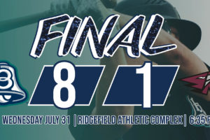 Bells Clinch Series with Win in Ridgefield