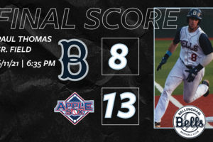 Bells Drop First Road Game of the Season in Wenatchee