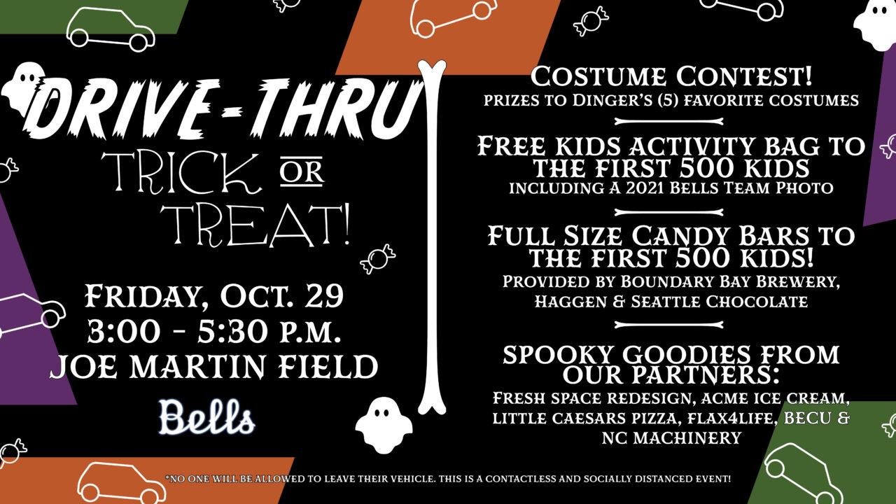 Bells to Host Drive Thru Trick or Treat Event at Joe Martin Field