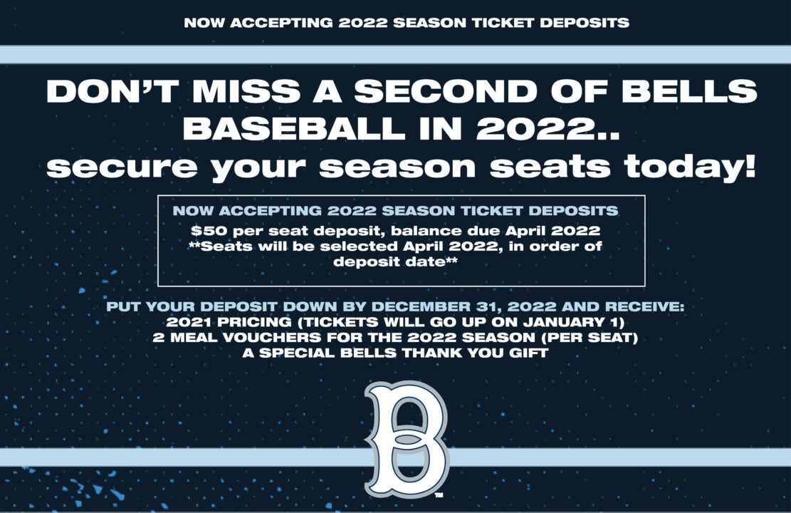 Now Accepting 2022 Season Ticket Deposits